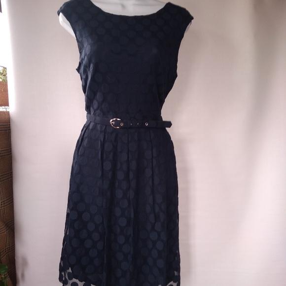 Alfani Dresses & Skirts - EUC BLUE POLKA DOT LACE DRESS